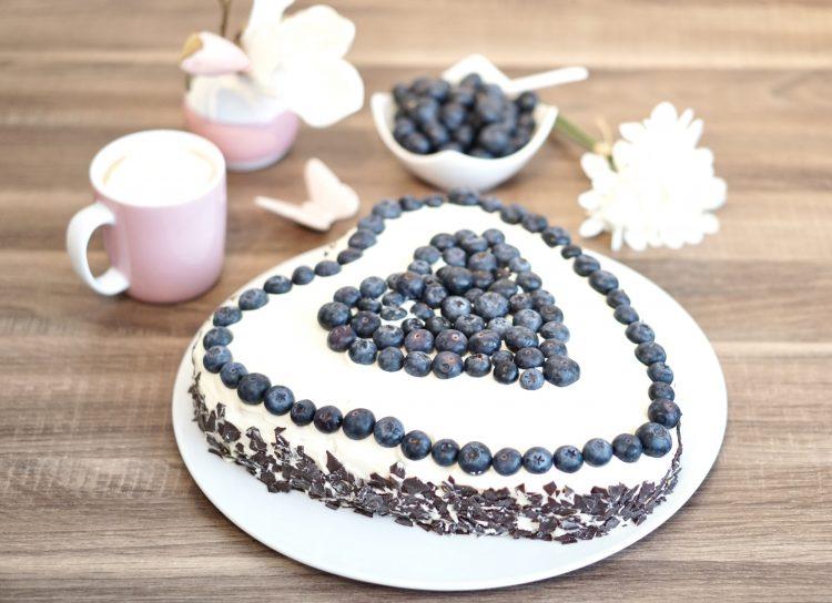 Heidelbeer Kuchen Mit Mascarponecreme Laktosefrei Histaminarm