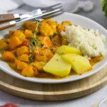 Low Carb Kürbis Pfanne mit Hähnchen Eat Tolerant